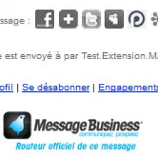 Copie d'écran d'un pied de mail envoyé par Sendethic (logo modifiable)