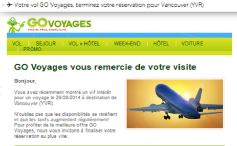 Go Voyages et Opodo : quel email de relance ?