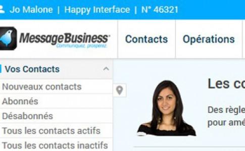 Avant Première : nouvelle interface pour l'application Message Business