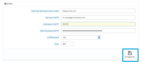 email transactionnel prestahop enregistrement