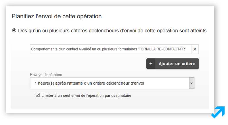 Module de planification de scénarisation dans l'application Sendethic
