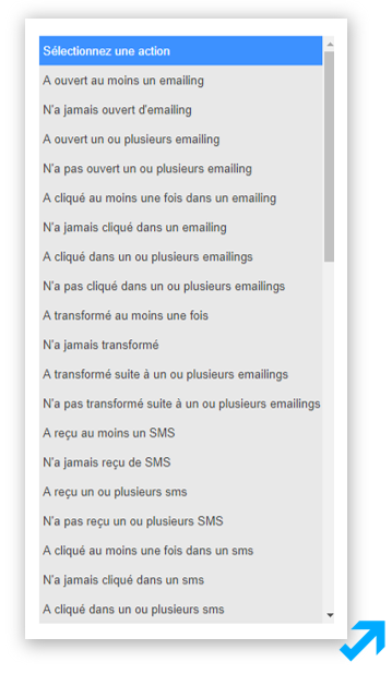 Capture d'écran de l'application Sendethic représentant divers types de comportements