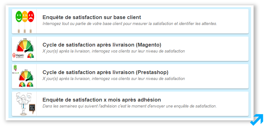 Programme Améliorer la satisfaction de l'application Sendethic