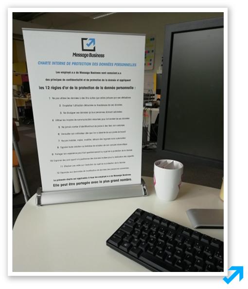 Photo de la charte interne de la protection des données Sendethic