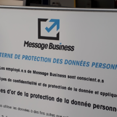 Photo de la charte interne de la protection des données Message Business