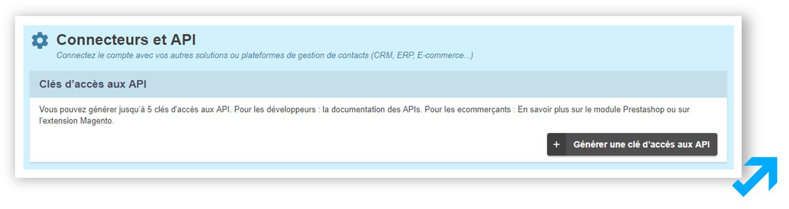 API et connexion CRM Sendethic