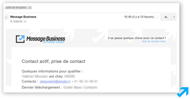 Email de notification aux commerciaux