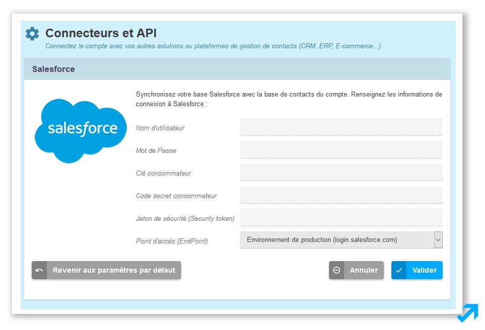 Connectez votre CRM Salesforce avec votre solution Emailing et Marketing Automation Sendethic